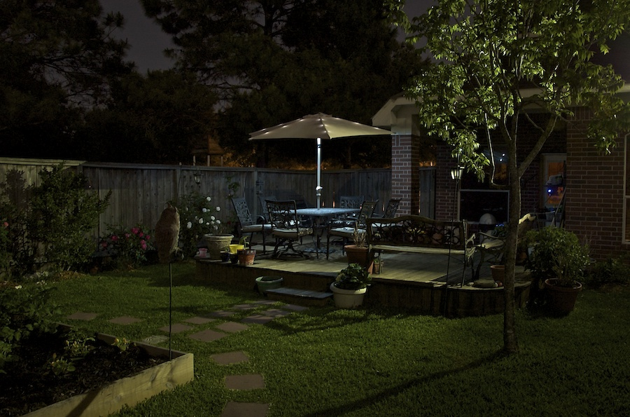 Backyard At Night